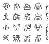 people icons  vector line set ... | Shutterstock .eps vector #1749637988