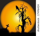 halloween scene | Shutterstock .eps vector #17496424