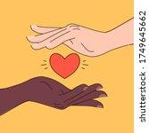 black lives matter hand drawn... | Shutterstock .eps vector #1749645662