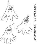 set of cute funny aliens.... | Shutterstock .eps vector #1749655298