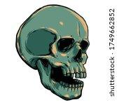 human skull vector illustration.... | Shutterstock .eps vector #1749662852