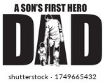 """set of letters """"dad"""" with child.... 
