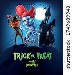 horror cartoon characters for... | Shutterstock .eps vector #1749689948
