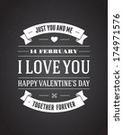 happy valentine's day message... | Shutterstock .eps vector #174971576