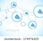 network concept | Shutterstock .eps vector #174976325