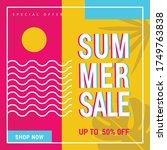 eye catching summer sale mobile ... | Shutterstock .eps vector #1749763838
