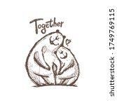 two bears in love for print ... | Shutterstock .eps vector #1749769115
