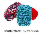 Colorful Wool Yarn Isolated On...