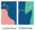 rectangular vertical two color... | Shutterstock .eps vector #1749815468