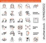 corona covid 19 protection... | Shutterstock .eps vector #1749820022