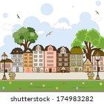 european city center. vector... | Shutterstock .eps vector #174983282