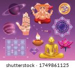 vedic astrology colored set...   Shutterstock .eps vector #1749861125