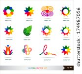 icons set vector. design... | Shutterstock .eps vector #174987056