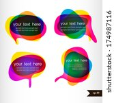 set of four colorful speech... | Shutterstock .eps vector #174987116