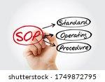 sop   standard operating... | Shutterstock . vector #1749872795