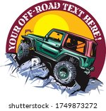 cartoon style off road vehicle... | Shutterstock .eps vector #1749873272