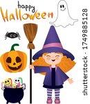 vector illustration. set of... | Shutterstock .eps vector #1749885128