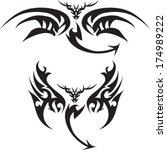 tattoo dragon for back. | Shutterstock .eps vector #174989222