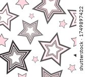 Asterisks. Seamless Pattern....