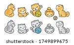 cat vector icon calico kitten...   Shutterstock .eps vector #1749899675