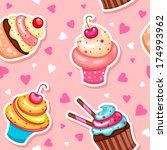 Seamless Cupcake Pattern For...