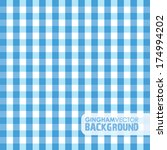 blue gingham background | Shutterstock .eps vector #174994202