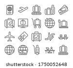 airport icons. airport and air... | Shutterstock .eps vector #1750052648