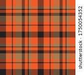 orange plaid  checkered  tartan ... | Shutterstock .eps vector #1750054352