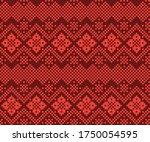 orange christmas fair isle... | Shutterstock .eps vector #1750054595