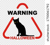 halloween warning sign with... | Shutterstock .eps vector #1750061792