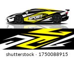 sports car wrapping decal design | Shutterstock .eps vector #1750088915