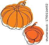 vector drawing of pumpkins.... | Shutterstock .eps vector #1750116452