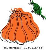 vector drawing of pumpkins.... | Shutterstock .eps vector #1750116455