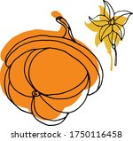 vector drawing of pumpkins.... | Shutterstock .eps vector #1750116458