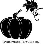 vector drawing of pumpkins.... | Shutterstock .eps vector #1750116482