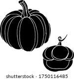 vector drawing of pumpkins.... | Shutterstock .eps vector #1750116485