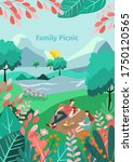 illustration of a family picnic ... | Shutterstock .eps vector #1750120565