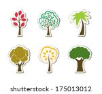 tree symbols for green web... | Shutterstock . vector #175013012