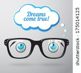 glasses with eyes dreaming...