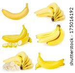 banana isolated on white  | Shutterstock . vector #175016192