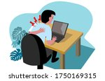 a bussiness man is touching on... | Shutterstock .eps vector #1750169315