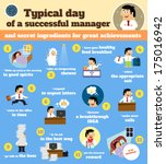 business life. manager schedule ... | Shutterstock . vector #175016942