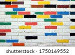 White Brick Wall  With Some...