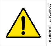 warning sign. exclamation ... | Shutterstock .eps vector #1750200092