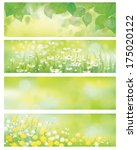 Vector  Spring Nature Banners ...