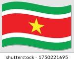 waving flag of suriname vector... | Shutterstock .eps vector #1750221695