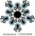 different patterns created from ...   Shutterstock .eps vector #1750233998