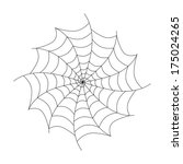 black cobweb isolated on white... | Shutterstock . vector #175024265