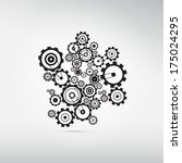 abstract cogs  gears isolated... | Shutterstock . vector #175024295