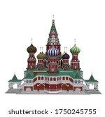 the kremlin architecture...   Shutterstock .eps vector #1750245755